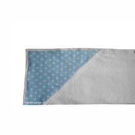 omslagdoek, couveusedeken star blauw