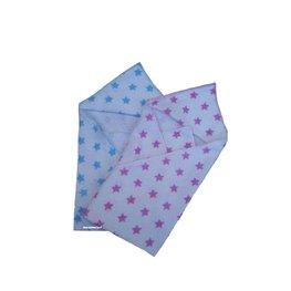 omslagdoek, couveusedeken blauwe ster