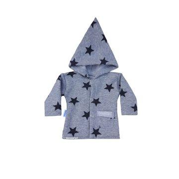 jasje grijs met donker-grijze sterren
