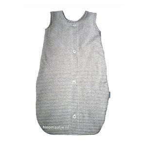 newborn kleding, prematuur babyslaapzakje grijs