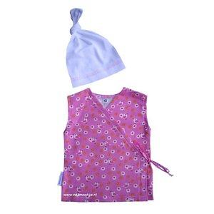 prematuur kleding,overslaghemdje, hemdje Kiki, overslaghemdje, couveusekleding