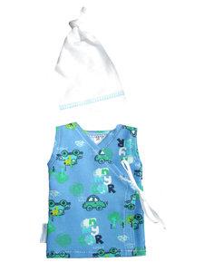 newborn kleding, prematuur hemdje, overslaghemdje